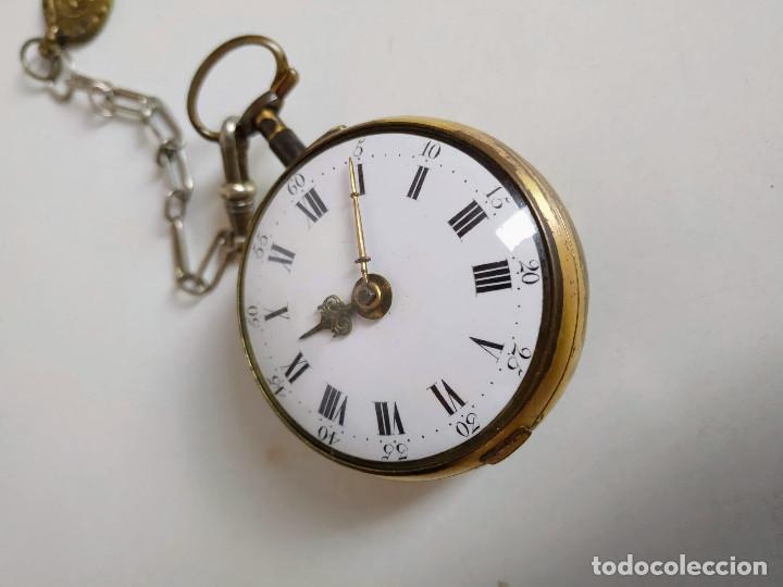 Relojes de bolsillo: Reloj catalino Inglés siglo XVIII - Foto 10 - 194338606
