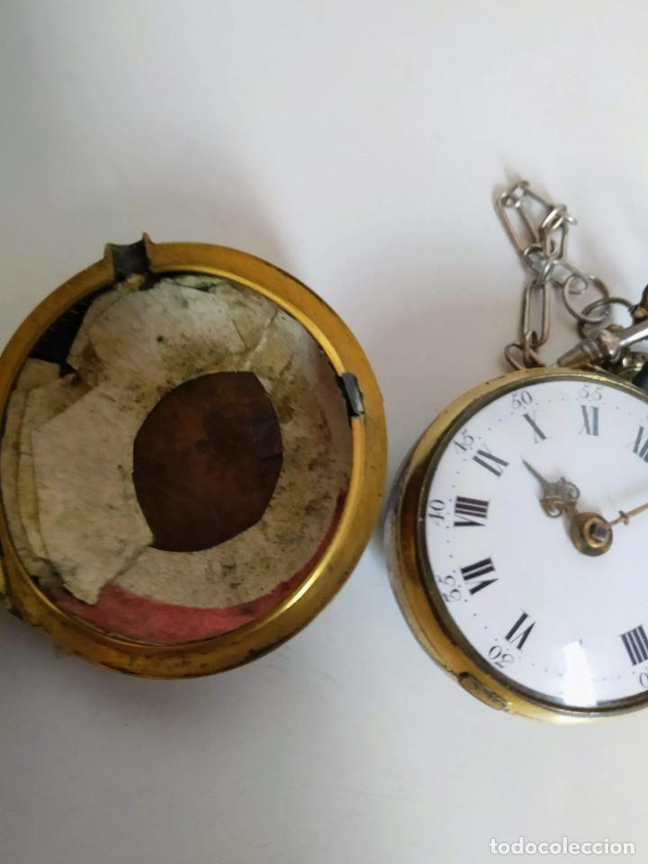 Relojes de bolsillo: Reloj catalino Inglés siglo XVIII - Foto 11 - 194338606