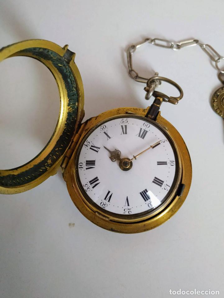 Relojes de bolsillo: Reloj catalino Inglés siglo XVIII - Foto 12 - 194338606