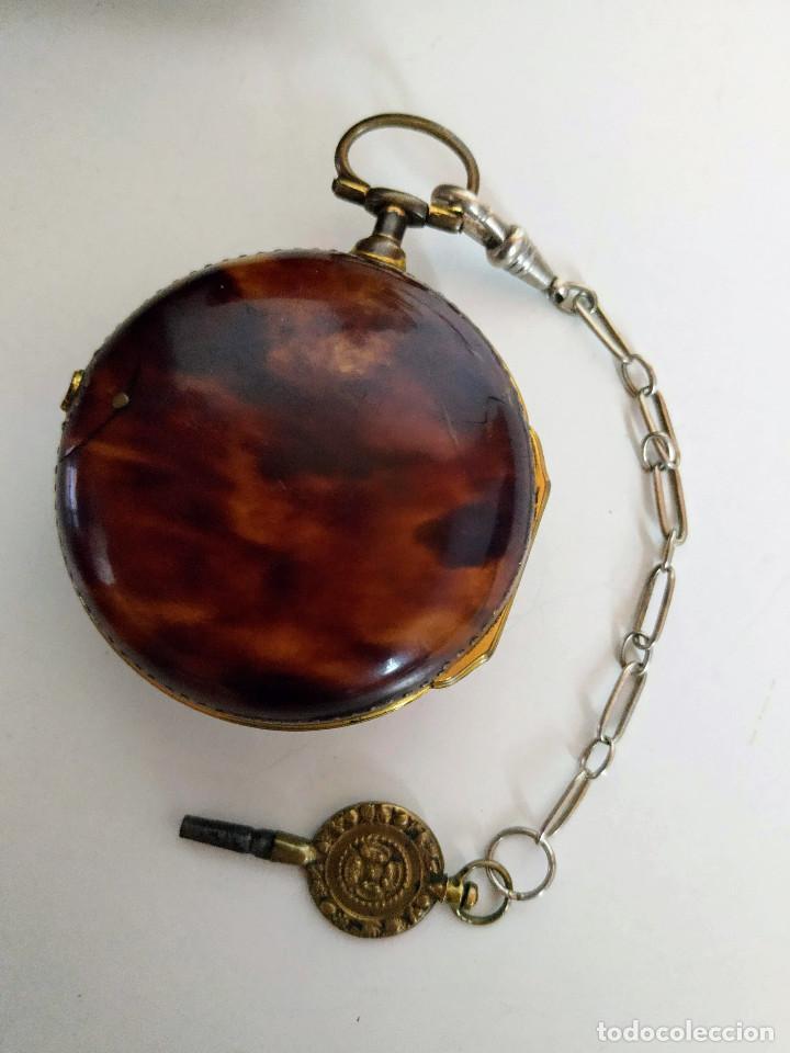 Relojes de bolsillo: Reloj catalino Inglés siglo XVIII - Foto 13 - 194338606