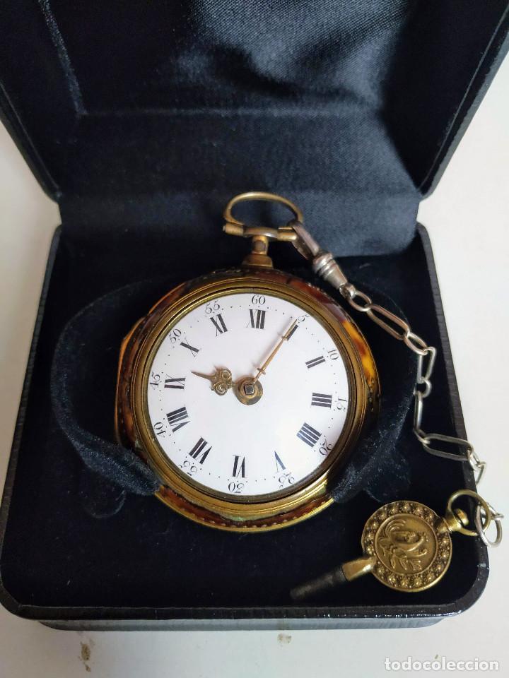 Relojes de bolsillo: Reloj catalino Inglés siglo XVIII - Foto 14 - 194338606