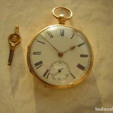 Relojes de bolsillo: RELOJ DE BOLSILLO DE ORO 18KT AÑO 1866. Lote 194347586