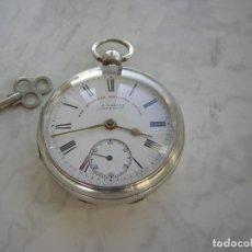 Relojes de bolsillo: RELOJ DE BOLSILLO J.G.GRAVES DE PLATA MACIZA AÑO 1894. Lote 194348055