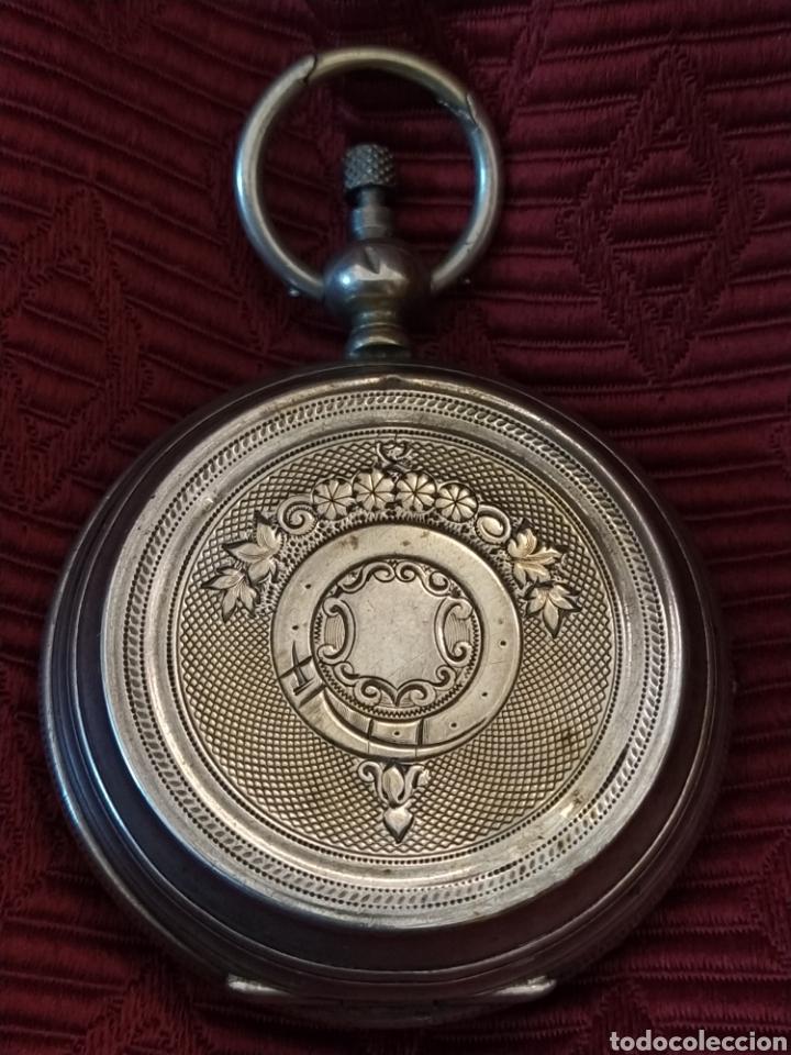 Relojes de bolsillo: Reloj de bolsillo Paul Boch. Plata. Siglo XIX. Medida caja 6cm. Cuatro tapas. - Foto 2 - 194351955