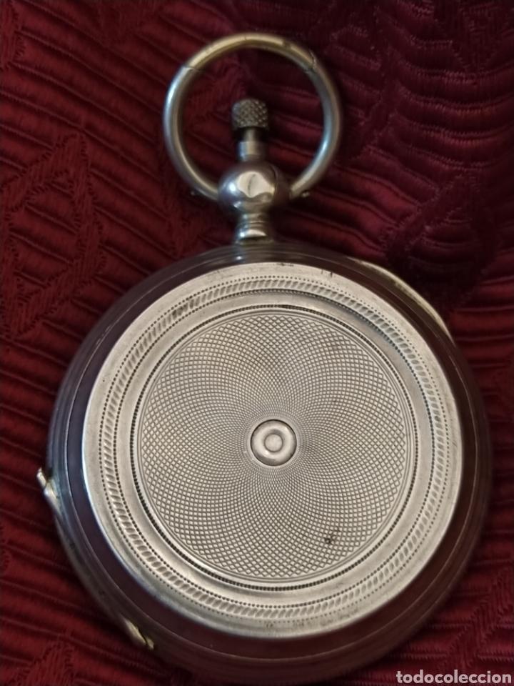 Relojes de bolsillo: Reloj de bolsillo Paul Boch. Plata. Siglo XIX. Medida caja 6cm. Cuatro tapas. - Foto 3 - 194351955