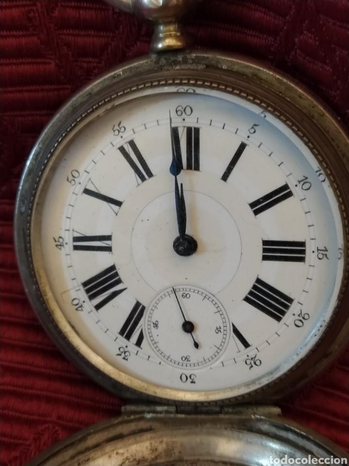 Relojes de bolsillo: Reloj de bolsillo Paul Boch. Plata. Siglo XIX. Medida caja 6cm. Cuatro tapas. - Foto 5 - 194351955