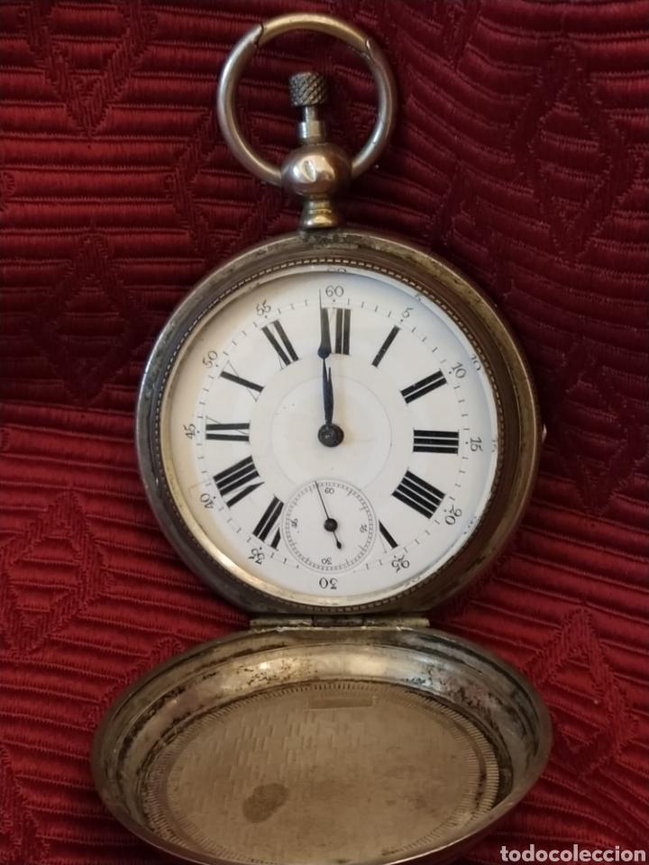 Relojes de bolsillo: Reloj de bolsillo Paul Boch. Plata. Siglo XIX. Medida caja 6cm. Cuatro tapas. - Foto 6 - 194351955