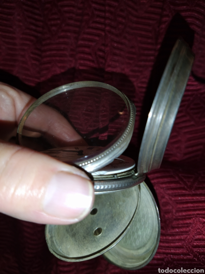 Relojes de bolsillo: Reloj de bolsillo Paul Boch. Plata. Siglo XIX. Medida caja 6cm. Cuatro tapas. - Foto 7 - 194351955