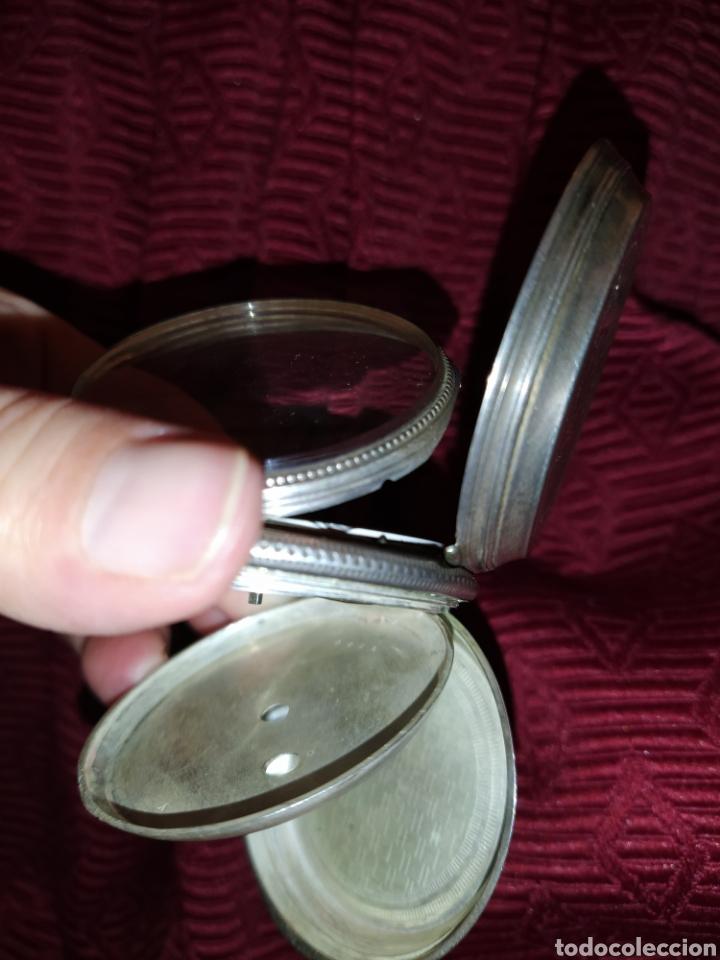 Relojes de bolsillo: Reloj de bolsillo Paul Boch. Plata. Siglo XIX. Medida caja 6cm. Cuatro tapas. - Foto 9 - 194351955