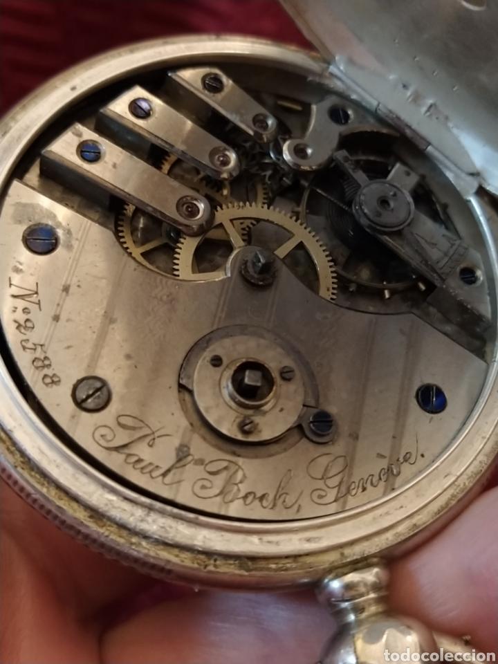 Relojes de bolsillo: Reloj de bolsillo Paul Boch. Plata. Siglo XIX. Medida caja 6cm. Cuatro tapas. - Foto 10 - 194351955