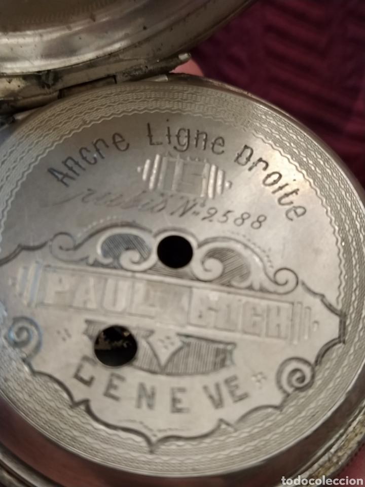 Relojes de bolsillo: Reloj de bolsillo Paul Boch. Plata. Siglo XIX. Medida caja 6cm. Cuatro tapas. - Foto 11 - 194351955