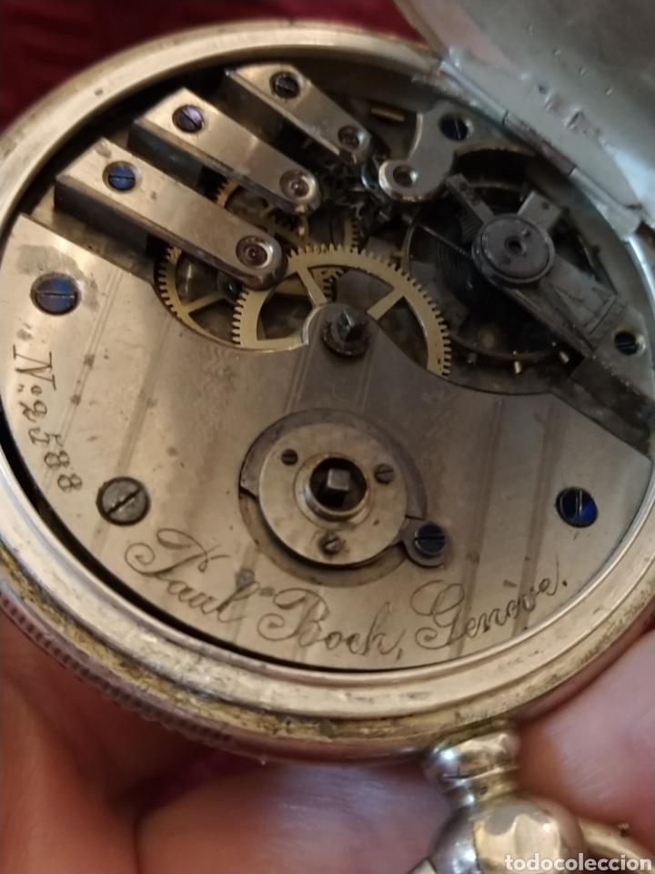 Relojes de bolsillo: Reloj de bolsillo Paul Boch. Plata. Siglo XIX. Medida caja 6cm. Cuatro tapas. - Foto 12 - 194351955