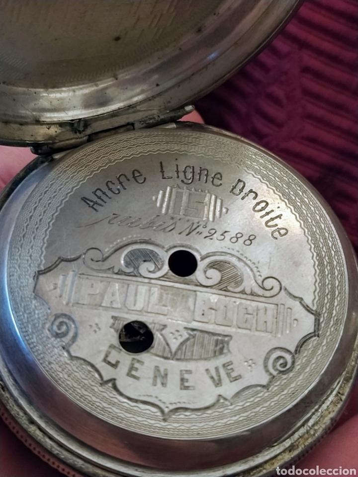Relojes de bolsillo: Reloj de bolsillo Paul Boch. Plata. Siglo XIX. Medida caja 6cm. Cuatro tapas. - Foto 13 - 194351955