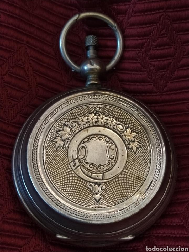 RELOJ DE BOLSILLO PAUL BOCH. PLATA. SIGLO XIX. MEDIDA CAJA 6CM. CUATRO TAPAS. (Relojes - Bolsillo Carga Manual)