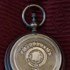 Relojes de bolsillo: RELOJ DE BOLSILLO PAUL BOCH. PLATA. SIGLO XIX. MEDIDA CAJA 6CM. CUATRO TAPAS.. Lote 194351955