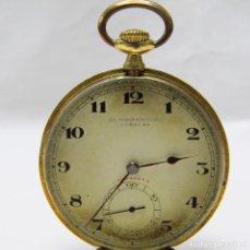 Relojes de bolsillo: BAUME & MERCIER (B&M.G). RELOJ DE BOLSILLO, LEPINE Y REMONTOIR. SUIZA, CA. 1900. ORO 18K.. Lote 194362985