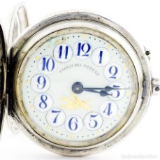 Relojes de bolsillo: COBACHO PATENT. RELOJ SUIZO DE BOLSILLO, SABONETA Y REMONTOIR. SUIZA, CA. 1900.. Lote 194363252