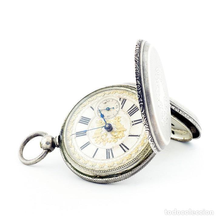 Relojes de bolsillo: RT. ROSKELL (Liverpol). Reloj de Bolsillo para caballero, saboneta. England, ca. 1880. - Foto 3 - 194363565