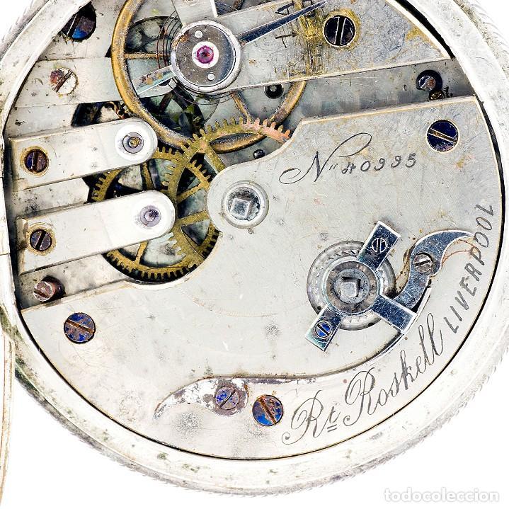 Relojes de bolsillo: RT. ROSKELL (Liverpol). Reloj de Bolsillo para caballero, saboneta. England, ca. 1880. - Foto 4 - 194363565
