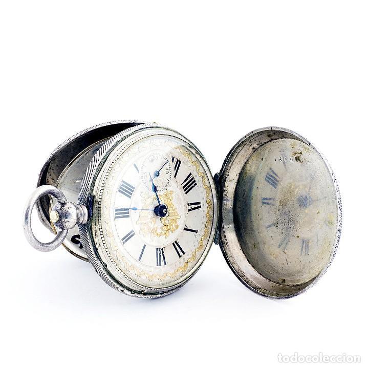 Relojes de bolsillo: RT. ROSKELL (Liverpol). Reloj de Bolsillo para caballero, saboneta. England, ca. 1880. - Foto 6 - 194363565
