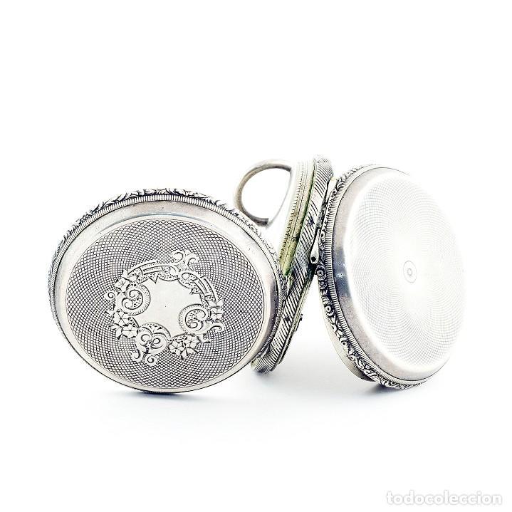 Relojes de bolsillo: RT. ROSKELL (Liverpol). Reloj de Bolsillo para caballero, saboneta. England, ca. 1880. - Foto 8 - 194363565