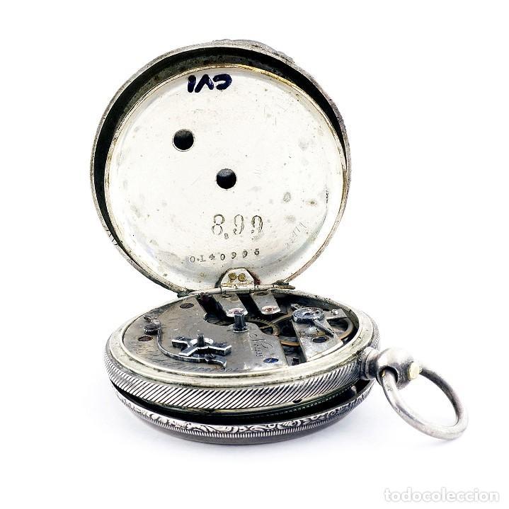 Relojes de bolsillo: RT. ROSKELL (Liverpol). Reloj de Bolsillo para caballero, saboneta. England, ca. 1880. - Foto 9 - 194363565