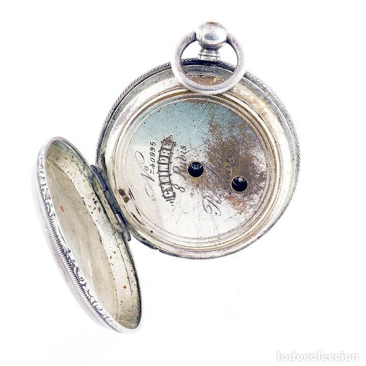 Relojes de bolsillo: RT. ROSKELL (Liverpol). Reloj de Bolsillo para caballero, saboneta. England, ca. 1880. - Foto 10 - 194363565