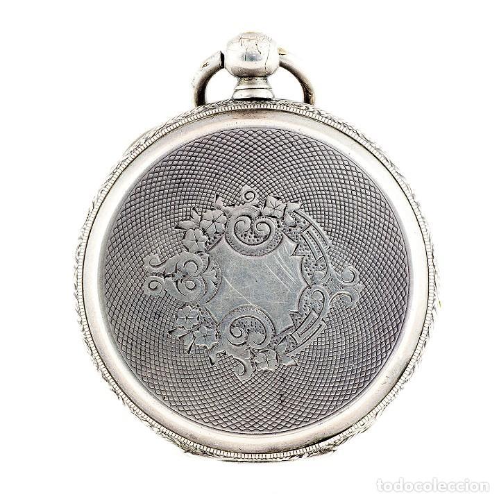 Relojes de bolsillo: RT. ROSKELL (Liverpol). Reloj de Bolsillo para caballero, saboneta. England, ca. 1880. - Foto 12 - 194363565