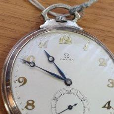 Relojes de bolsillo: RELOJ BOLSILLO OMEGA DE PLATA AÑO 1920. Lote 194373641