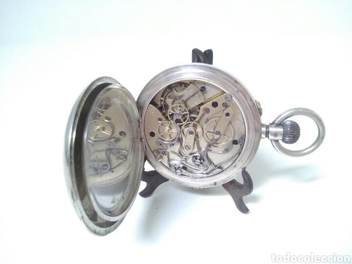 Relojes de bolsillo: CRONOMETRO CRONOGRAFO SUIZO 1892 (SIGLO XIX) GEORGES NICOLET EN SUIZA EN PLATA DE LEY INGLESA AAA - Foto 3 - 194499222