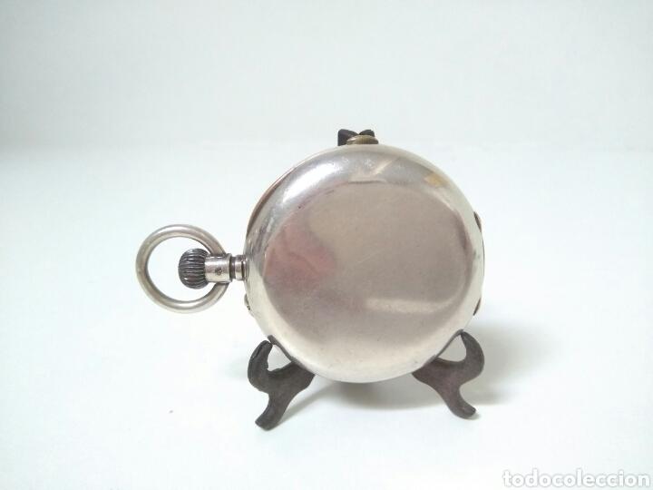 Relojes de bolsillo: CRONOMETRO CRONOGRAFO SUIZO 1892 (SIGLO XIX) GEORGES NICOLET EN SUIZA EN PLATA DE LEY INGLESA AAA - Foto 6 - 194499222
