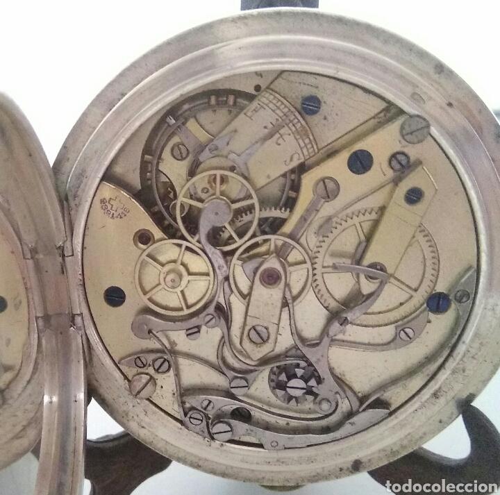 Relojes de bolsillo: CRONOMETRO CRONOGRAFO SUIZO 1892 (SIGLO XIX) GEORGES NICOLET EN SUIZA EN PLATA DE LEY INGLESA AAA - Foto 7 - 194499222