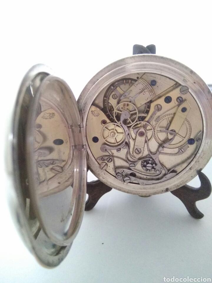 Relojes de bolsillo: CRONOMETRO CRONOGRAFO SUIZO 1892 (SIGLO XIX) GEORGES NICOLET EN SUIZA EN PLATA DE LEY INGLESA AAA - Foto 10 - 194499222