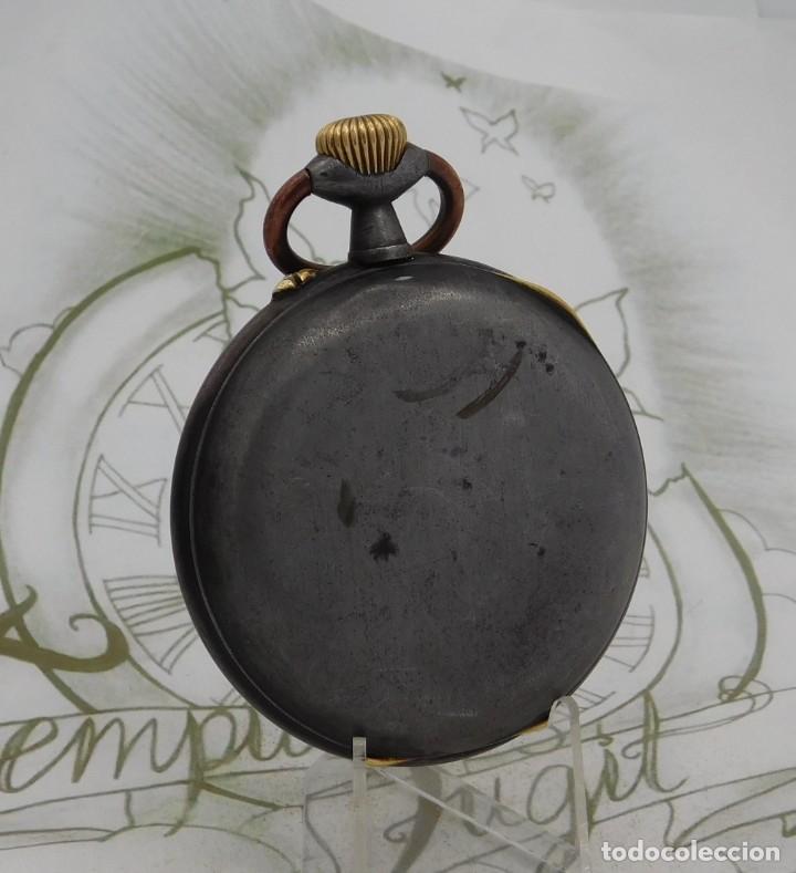Relojes de bolsillo: INUSUAL Y GRAN RELOJ DE BOLSILLO-5 ESFERAS-FASE LUNAR-CALENDARIO-CIRCA 1880-FUNCIONANDO TODO - Foto 2 - 194511193