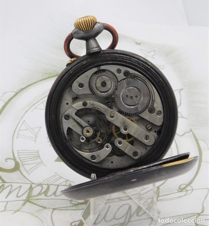 Relojes de bolsillo: INUSUAL Y GRAN RELOJ DE BOLSILLO-5 ESFERAS-FASE LUNAR-CALENDARIO-CIRCA 1880-FUNCIONANDO TODO - Foto 3 - 194511193