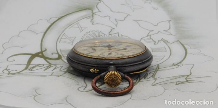Relojes de bolsillo: INUSUAL Y GRAN RELOJ DE BOLSILLO-5 ESFERAS-FASE LUNAR-CALENDARIO-CIRCA 1880-FUNCIONANDO TODO - Foto 5 - 194511193