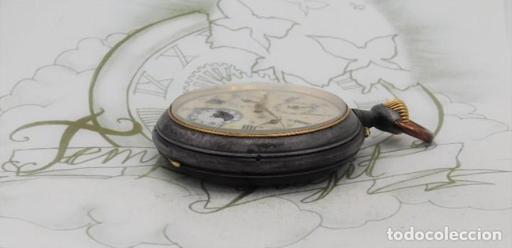 Relojes de bolsillo: INUSUAL Y GRAN RELOJ DE BOLSILLO-5 ESFERAS-FASE LUNAR-CALENDARIO-CIRCA 1880-FUNCIONANDO TODO - Foto 6 - 194511193