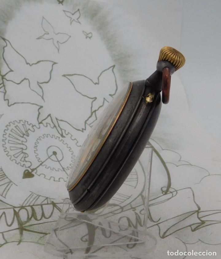 Relojes de bolsillo: INUSUAL Y GRAN RELOJ DE BOLSILLO-5 ESFERAS-FASE LUNAR-CALENDARIO-CIRCA 1880-FUNCIONANDO TODO - Foto 14 - 194511193