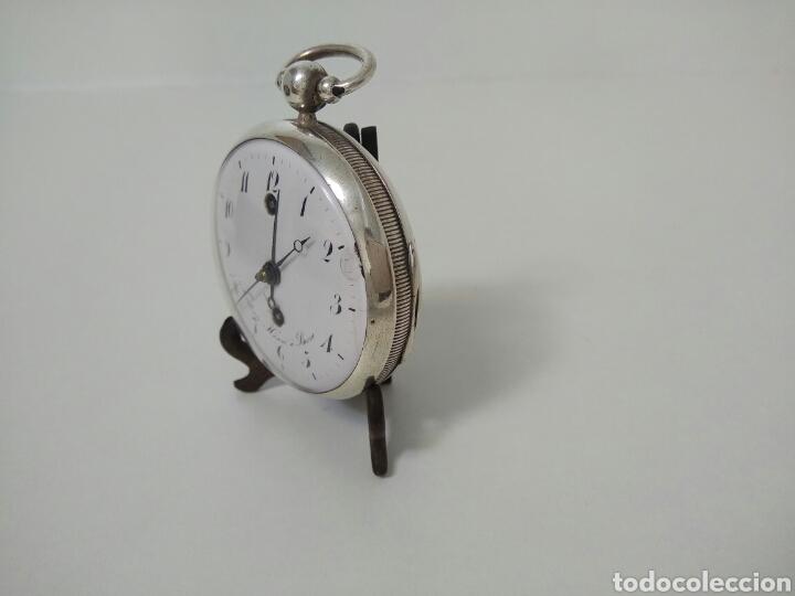 Relojes de bolsillo: LUJO RELOJ CON ALARMA FUNCIONANDO DE BOLSILLO CATALINO PLATA FRÉDÉRIC HANNI A BERNE 1850 SONERIA AAA - Foto 8 - 194519051