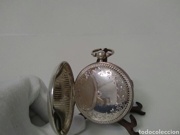 Relojes de bolsillo: LUJO RELOJ CON ALARMA FUNCIONANDO DE BOLSILLO CATALINO PLATA FRÉDÉRIC HANNI A BERNE 1850 SONERIA AAA - Foto 9 - 194519051
