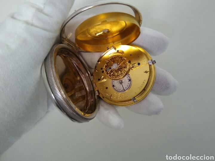 Relojes de bolsillo: LUJO RELOJ CON ALARMA FUNCIONANDO DE BOLSILLO CATALINO PLATA FRÉDÉRIC HANNI A BERNE 1850 SONERIA AAA - Foto 18 - 194519051