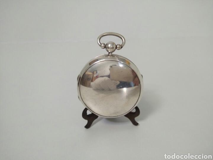 Relojes de bolsillo: LUJO RELOJ CON ALARMA FUNCIONANDO DE BOLSILLO CATALINO PLATA FRÉDÉRIC HANNI A BERNE 1850 SONERIA AAA - Foto 19 - 194519051