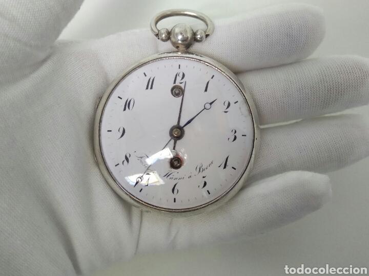 LUJO RELOJ CON ALARMA FUNCIONANDO DE BOLSILLO CATALINO PLATA FRÉDÉRIC HANNI A BERNE 1850 SONERIA AAA (Relojes - Bolsillo Carga Manual)