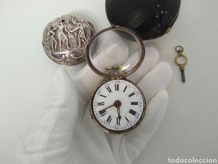 Relojes de bolsillo: LUJO EXPECTACULAR RELOJ CATALINO FUNCIONANDO SIGLO XVIII 1760 - 1780 CON LLAVE AAA - Foto 5 - 194522397