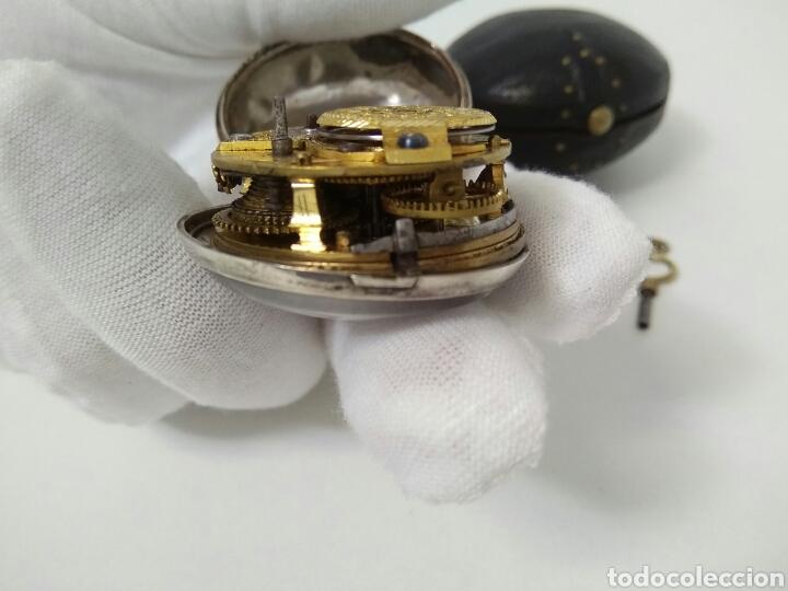 Relojes de bolsillo: LUJO EXPECTACULAR RELOJ CATALINO FUNCIONANDO SIGLO XVIII 1760 - 1780 CON LLAVE AAA - Foto 15 - 194522397