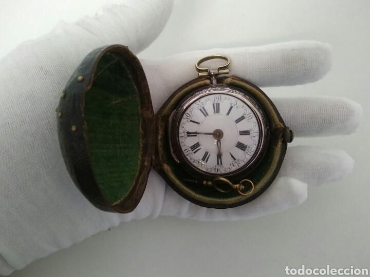 Relojes de bolsillo: LUJO EXPECTACULAR RELOJ CATALINO FUNCIONANDO SIGLO XVIII 1760 - 1780 CON LLAVE AAA - Foto 16 - 194522397