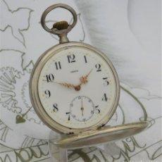 Relojes de bolsillo: OMEGA-DE PLATA- FANTÁSTICO RELOJ DE BOLSILLO-3 TAPAS-CIRCA 1898-FUNCIONANDO. Lote 194523033
