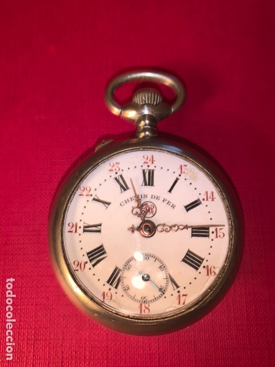 ANTIGUO RELOJ DE BOLSILLO CHEMIN DE FER. FUNCIONA, BUEN ESTADO (Relojes - Bolsillo Carga Manual)
