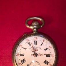 Relojes de bolsillo: ANTIGUO RELOJ DE BOLSILLO CHEMIN DE FER. FUNCIONA, BUEN ESTADO. Lote 194526020
