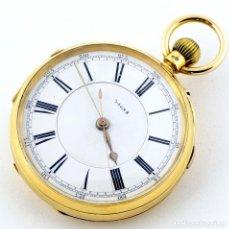 Relojes de bolsillo: RELOJ DE BOLSILLO DE CABALLERO (DEL DOCTOR), LEPINE Y REMONTOIR. AÑO, 1889. ORO 18K.. Lote 194552001